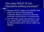 how does molst fit into maryland s existing processes