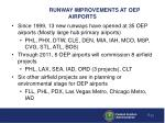runway improvements at oep airports