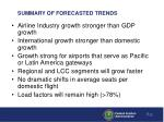 summary of forecasted trends
