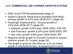 u s commercial air carrier growth system
