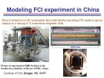 modeling fci experiment in china16