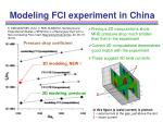 modeling fci experiment in china18