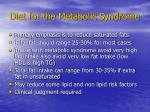 diet for the metabolic syndrome