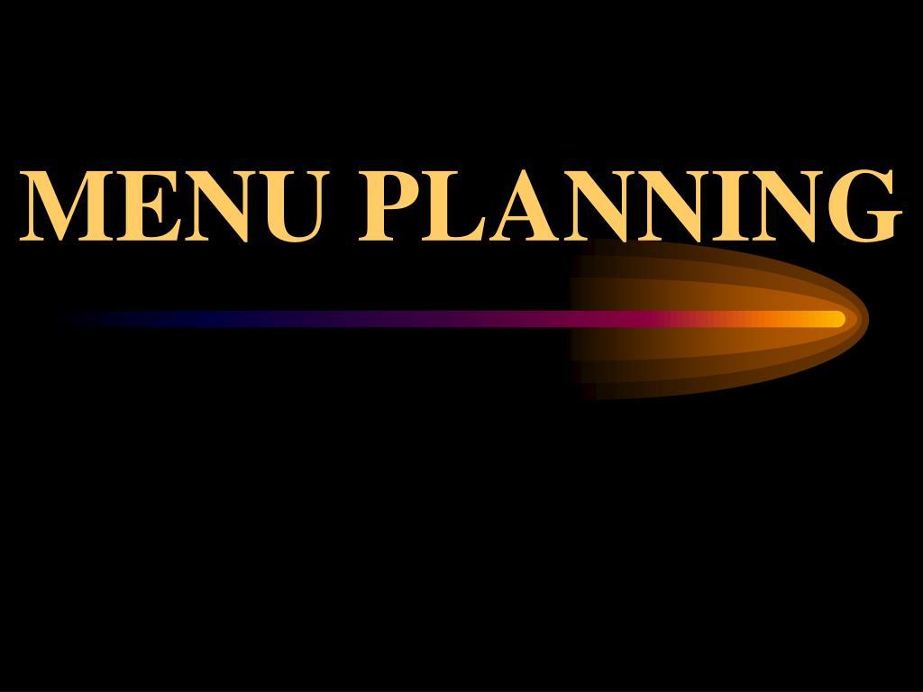 menu planning l.