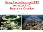 heavy ion collisions at rhic and at the lhc theoretical overview