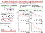 parton energy loss depends on parton identity