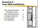 scenario 6 lane shift multilane