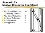scenario 7 median crossover multilane