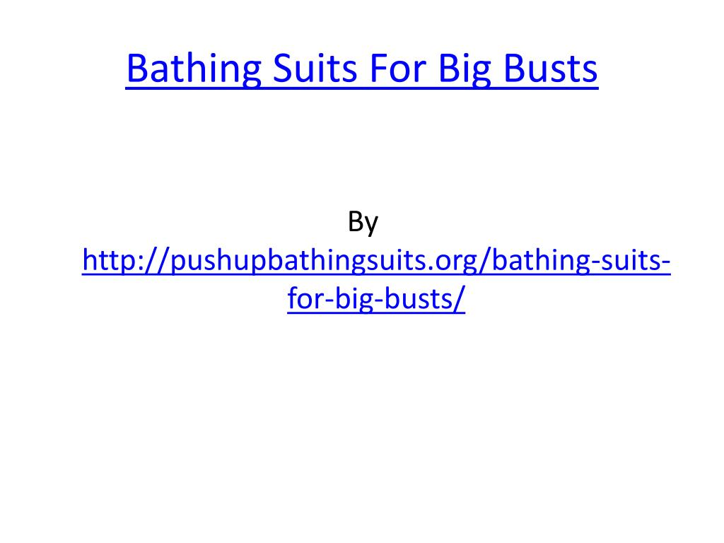 bathing suits for big busts l.