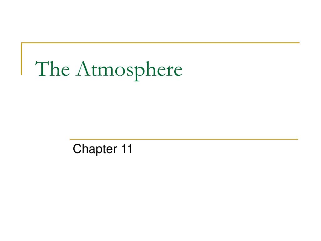 the atmosphere l.