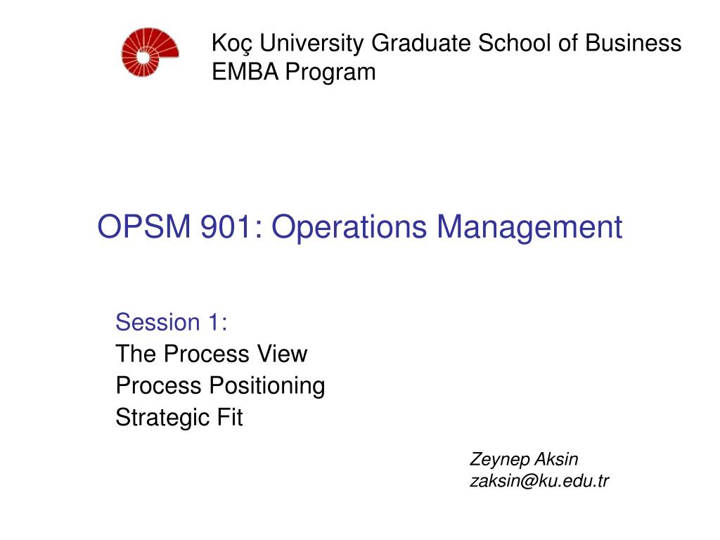 opsm 901 operations management l.