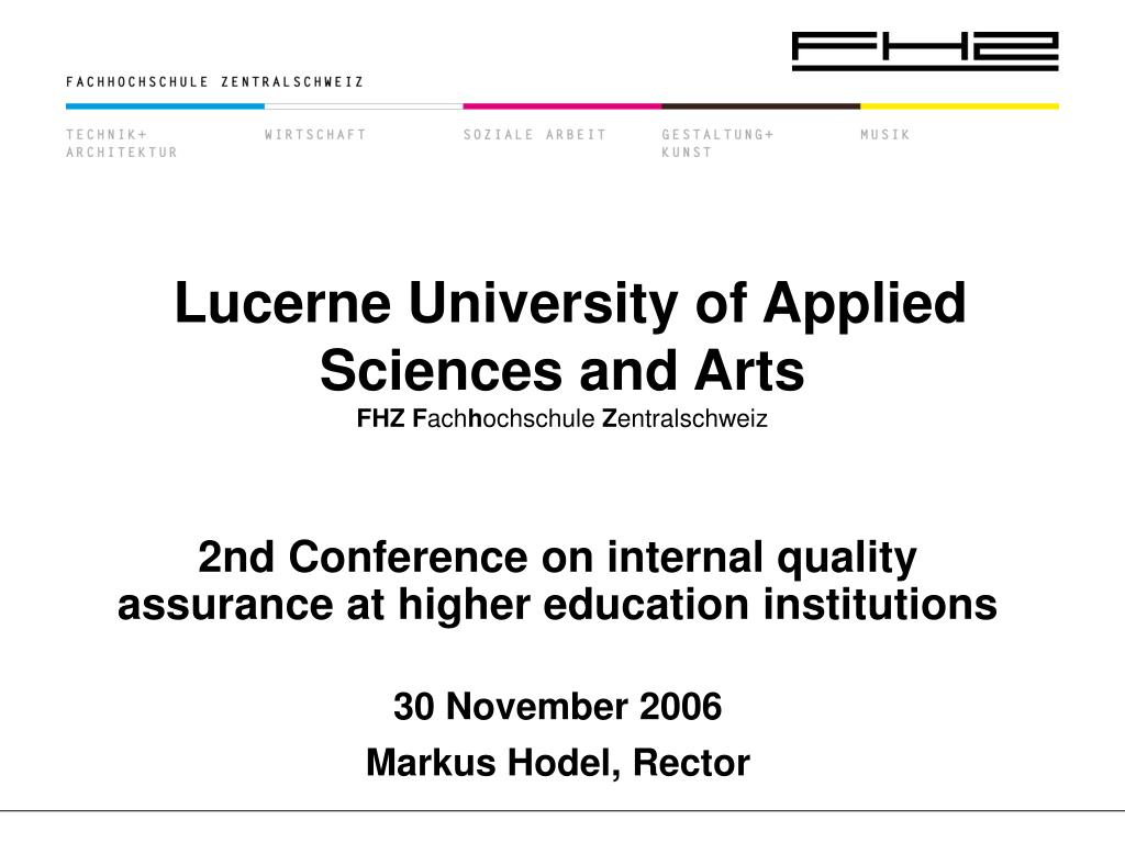 lucerne university of applied sciences and arts fhz f ach h ochschule z entralschweiz l.