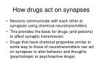 how drugs act on synapses