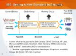 ibe setting a new standard in security