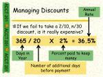 managing discounts