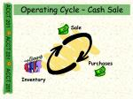 operating cycle cash sale