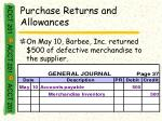 purchase returns and allowances33
