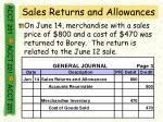 sales returns and allowances43