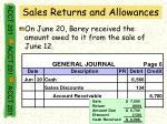 sales returns and allowances44