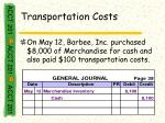 transportation costs36