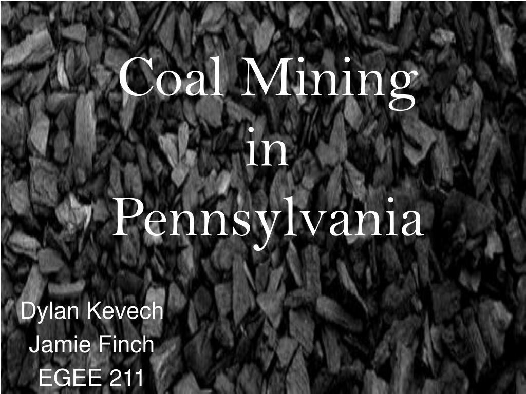 coal mining in pennsylvania l.