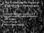 the environmental impact of coal mining in pennsylvania