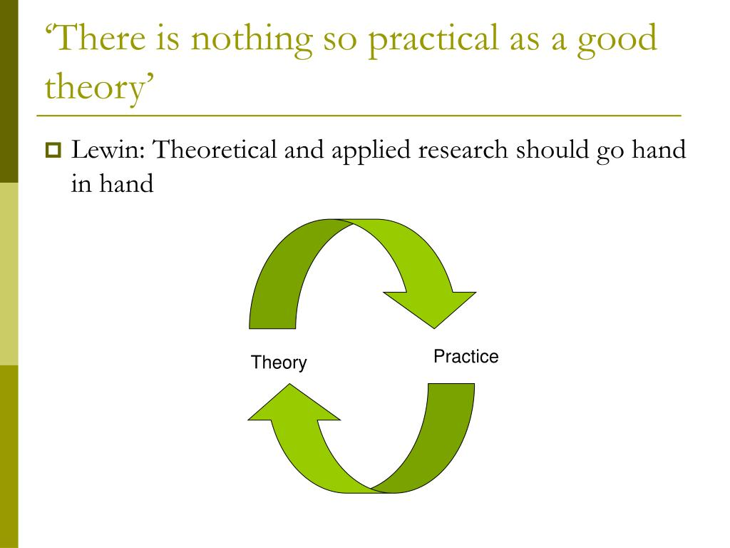 'There is nothing so practical as a good theory'