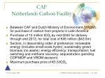 caf netherlands carbon facility