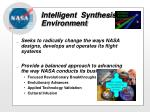 intelligent synthesis environment10