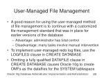 user managed file management