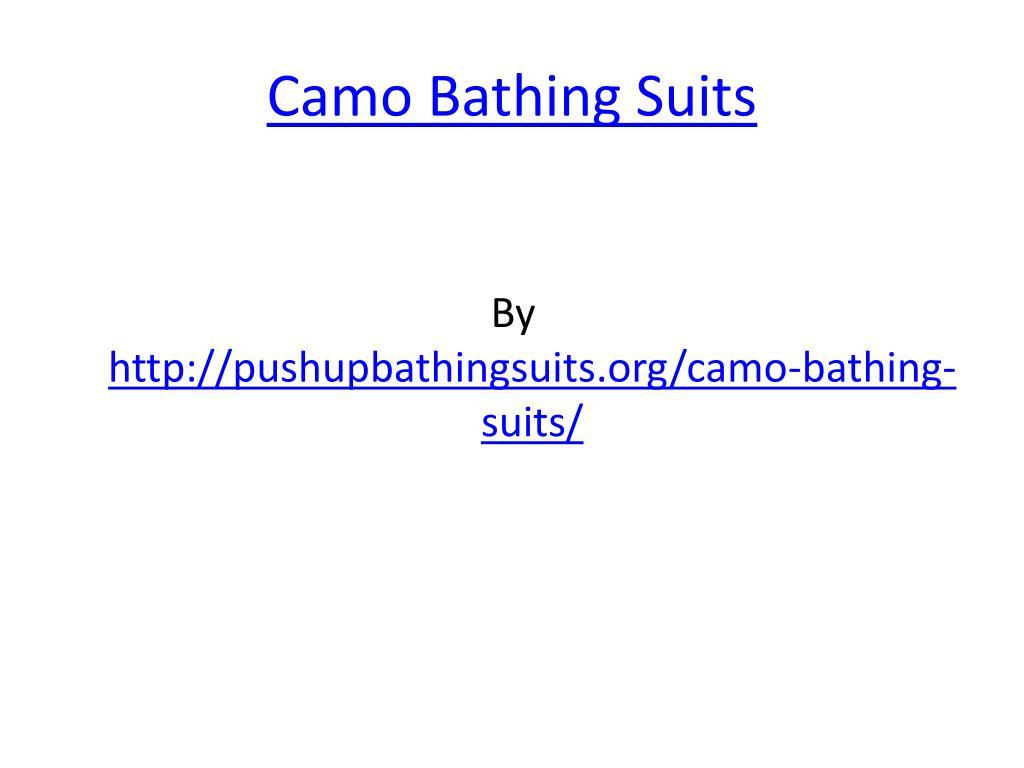 camo bathing suits l.