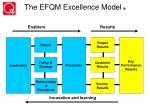 the efqm excellence model r