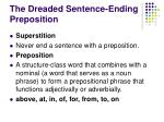 the dreaded sentence ending preposition