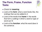 the form frame function tests