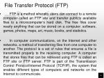 file transfer protocol ftp