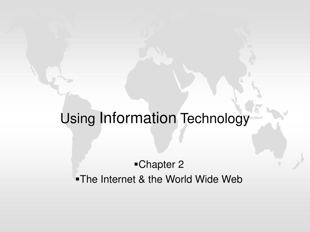 using information technology l.