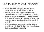 bi in the ecm context examples6