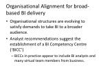 organisational alignment for broad based bi delivery