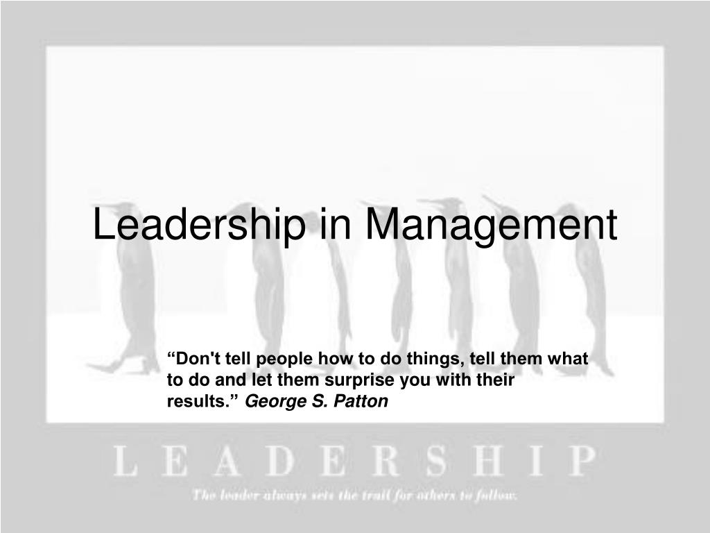 leadership in management l.