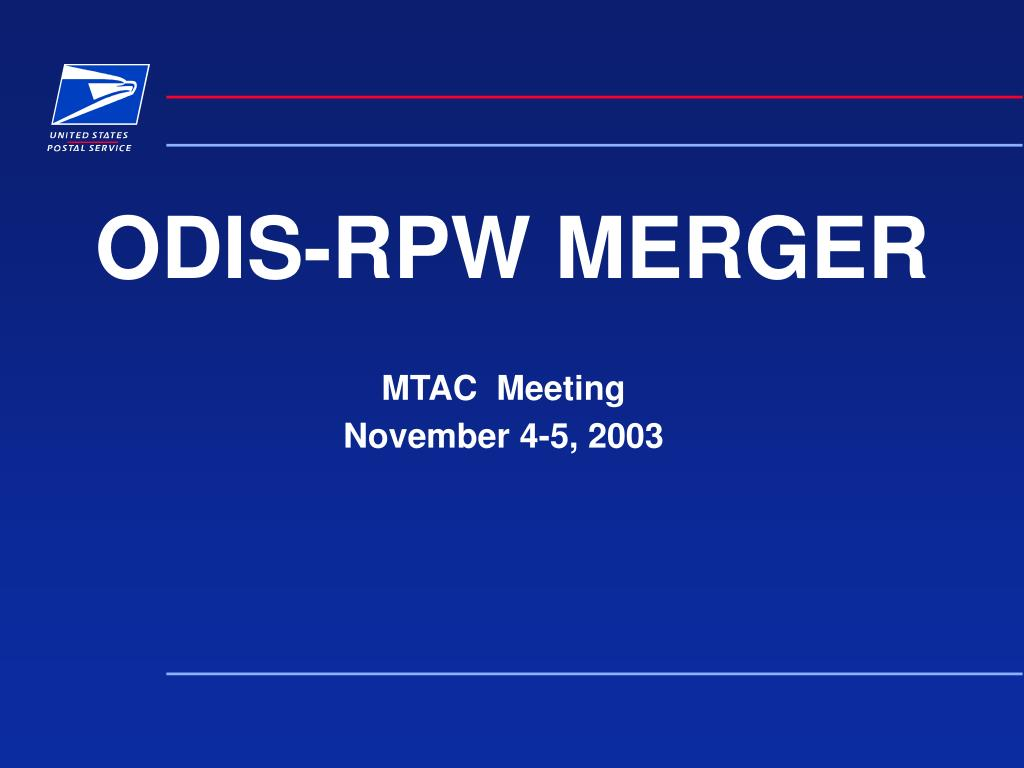 odis rpw merger l.