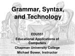 grammar syntax and technology
