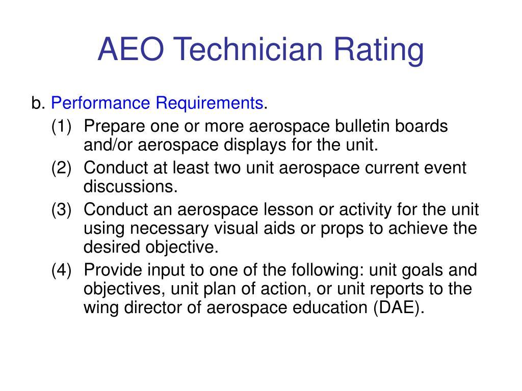 AEO Technician Rating