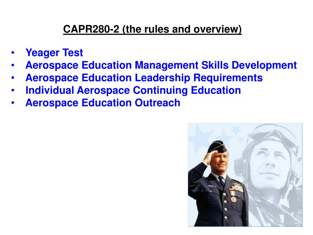 CAPR280-2 (the rules and overview)