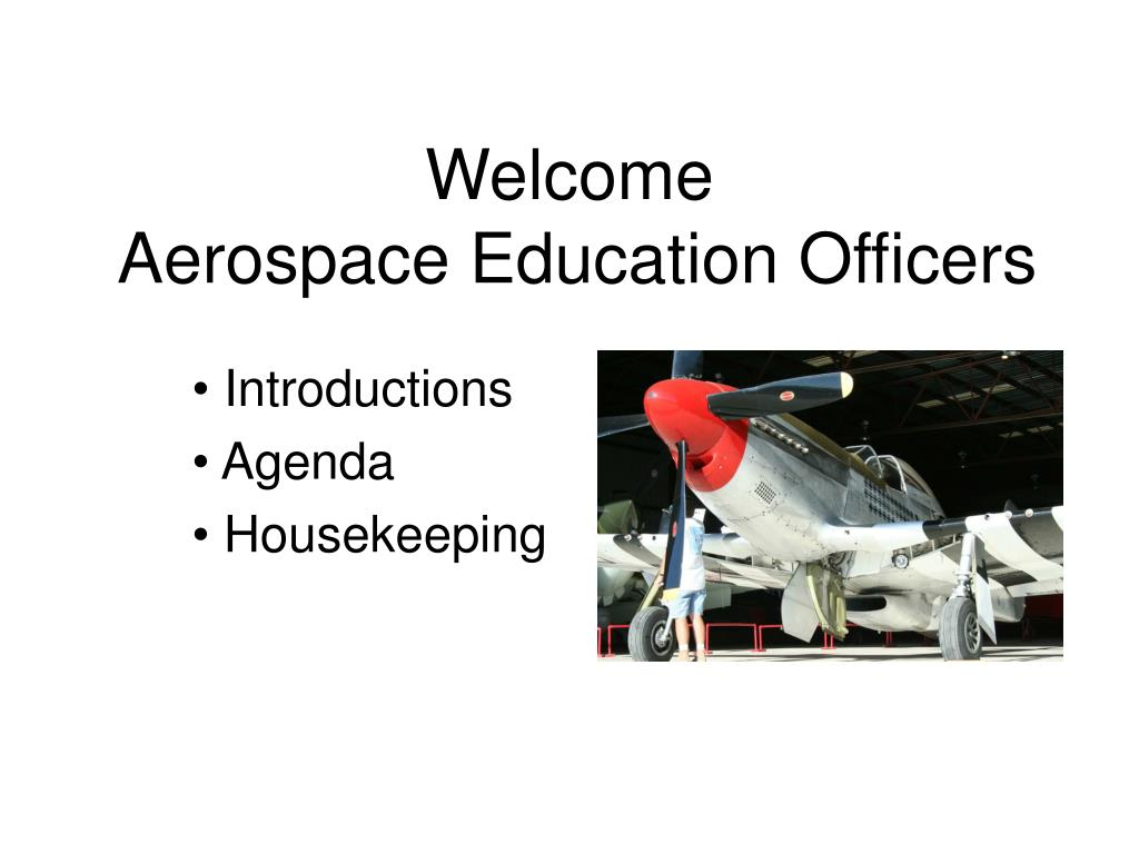 welcome aerospace education officers l.