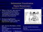 information visualization digital renaissance horizons largely unexplored