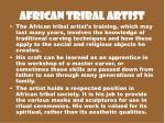 african tribal artist