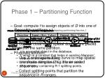 phase 1 partitioning function