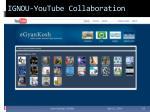 ignou youtube collaboration10