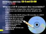 cd r and cd rw