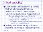 3 redressability